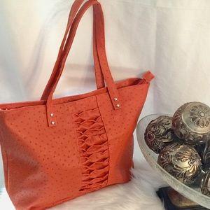 Handbags - Orange Fashion Tote Handbag